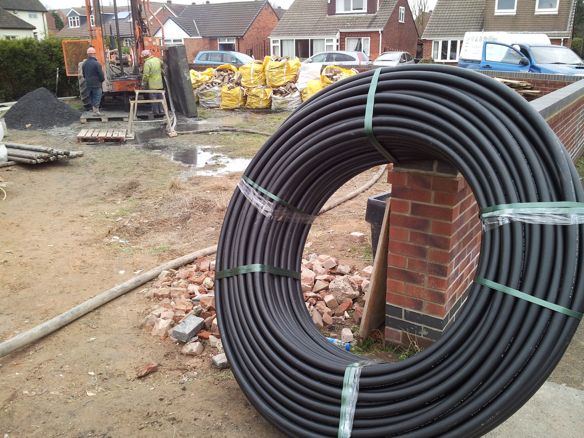 ground source heat pump collector pipe