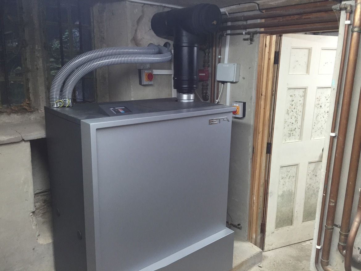 biomass boiler for homes in derbyshire