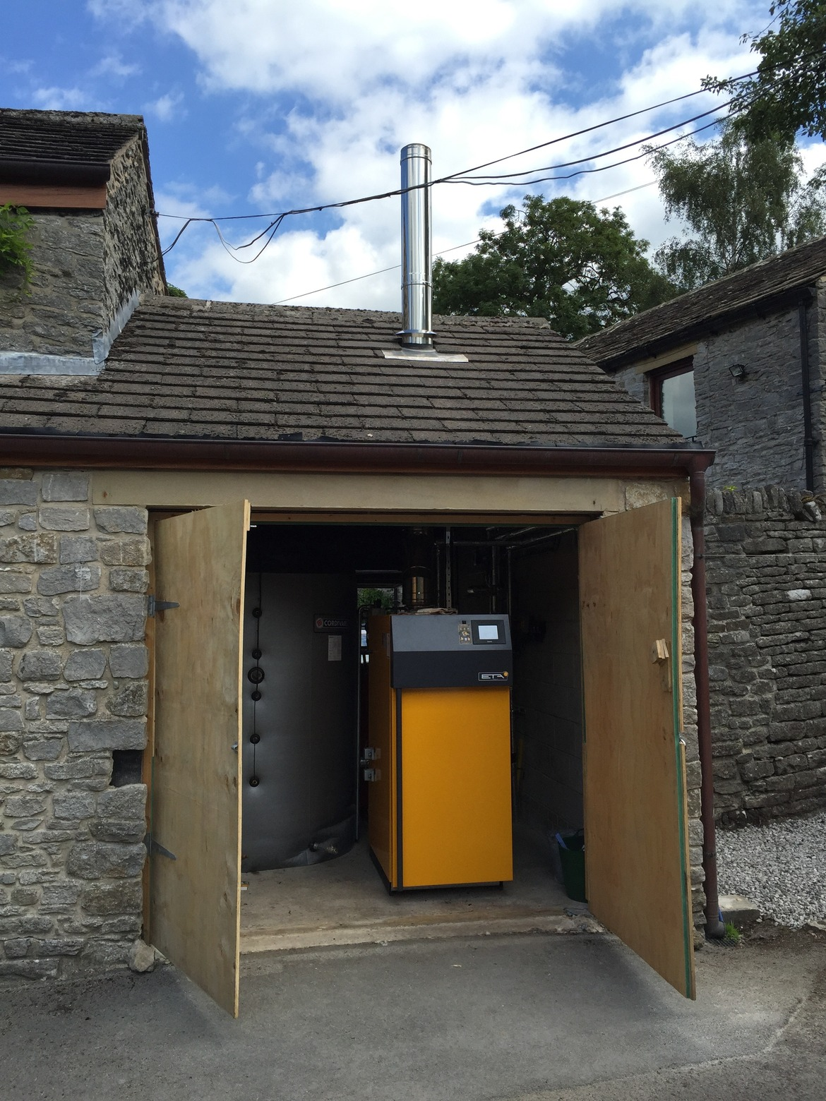ETA log biomass boiler installed in Derbyshire