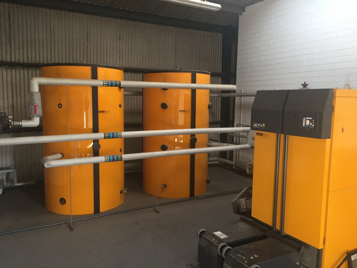 biomass district heating system installed in south yorkshire